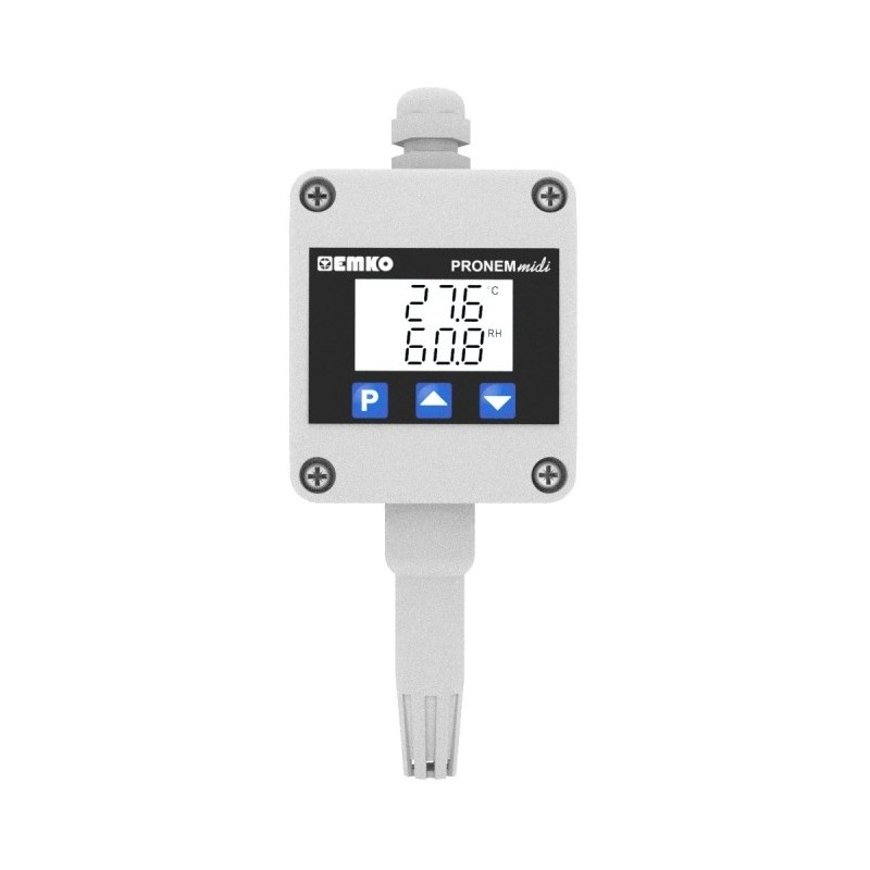 Pronem Midi-LCD (Wall Type) Temperature and Relative Humidity Transmitter