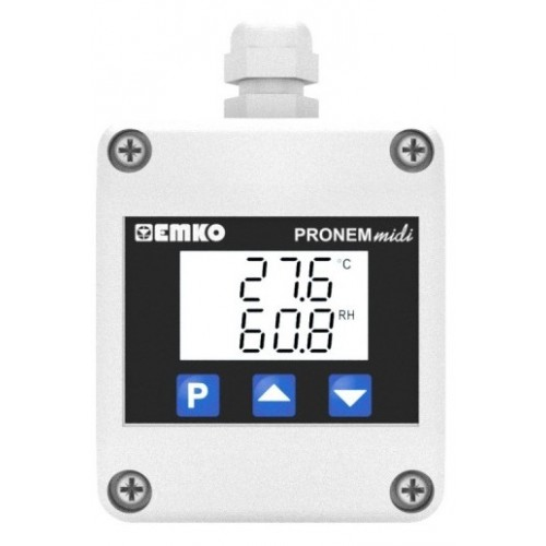 Pronem Midi-LCD (Duct Type) Temperature and Relative Humidity Transmitter