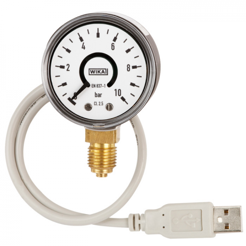 Model PGT10 USB Bourdon tube pressure gauge with output signal