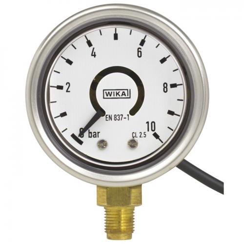 Model PGT21 Bourdon tube pressure gauge with output signal