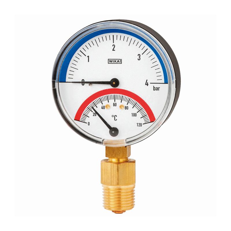 Models 100.0x, 100.1x Thermomanometer For pressure and temperature measurement