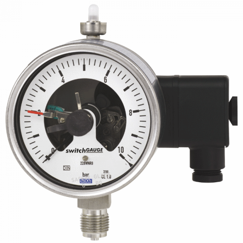 Models PGS23.100, PGS23.160 Bourdon tube pressure gauge with switch contacts