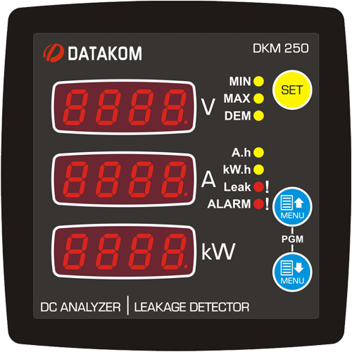 DKM-250 DC Energy Analyzer and Earth Leakage Detector