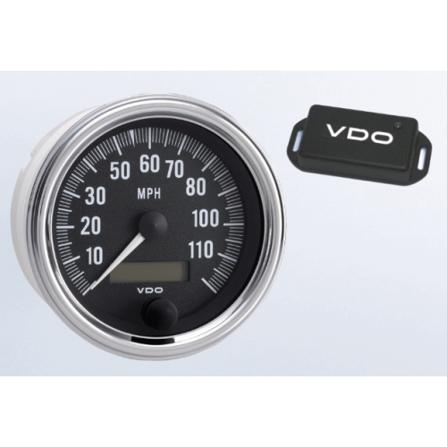 "120 MPH 3-3/8"" Speedometer with GPS Speed Sender"