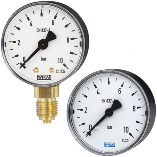 Models 111.10, 111.12 Bourdon tube pressure gauge, copper alloy