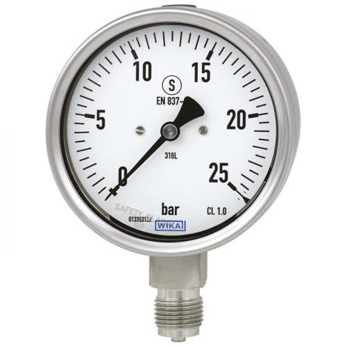 Models 232.30, 233.30 Bourdon tube pressure gauge, stainless steel