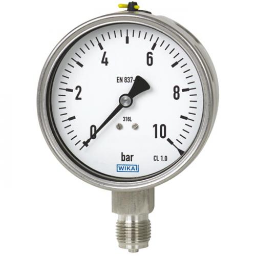Models 232.50, 233.50 Bourdon tube pressure gauge, stainless steel
