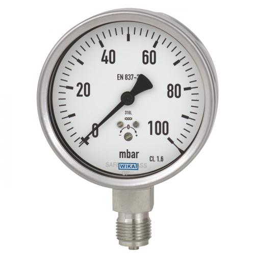 Models 632.50, 633.50 Capsule pressure gauge, stainless steel