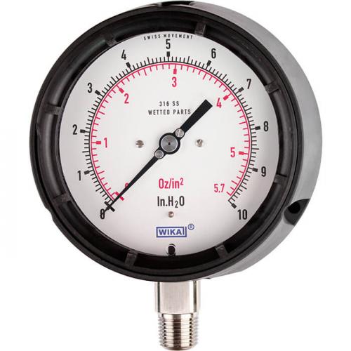 Models 612.34, 632.34, 633.34 Capsule pressure gauge, copper alloy or stainless steel