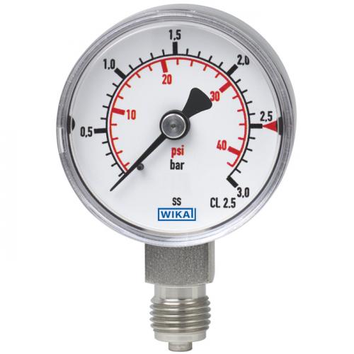 Model 131.11 Bourdon tube pressure gauge, stainless steel