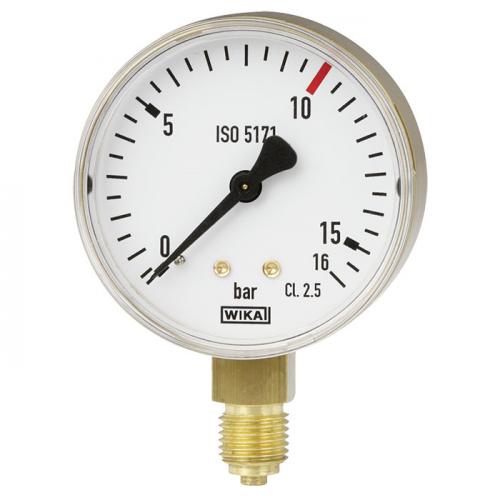Model 111.11 Bourdon tube pressure gauge, copper alloy
