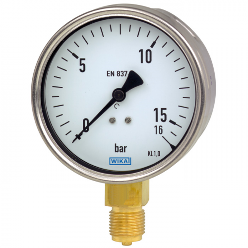 Model 212.20 Bourdon tube pressure gauge, copper alloy