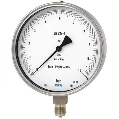 Models 332.50, 333.50 Test gauge, stainless steel