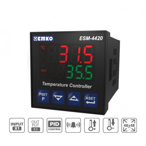 ESM-4420 PID Temperature Controller with Universal Input (TC, RTD)