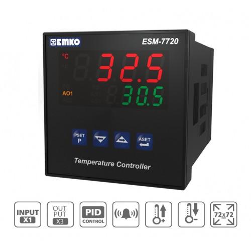 ESM-7720 PID Temperature Controller with Universal Input (TC, RTD)