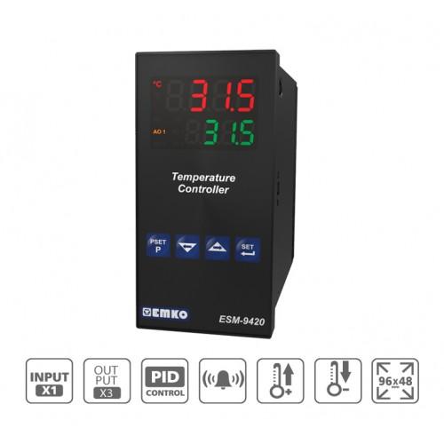 ESM-9420 PID Temperature Controller with Universal Input (TC, RTD)