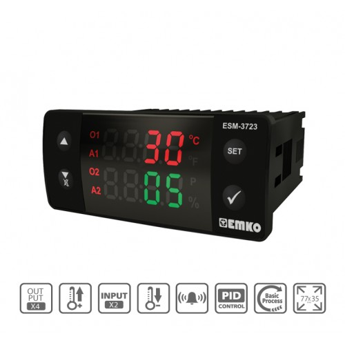 ESM-3723 Digital Temperature+Humidity Controller