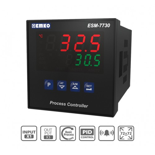 ESM-7730 Process Control Device with Universal Input and Dual Set