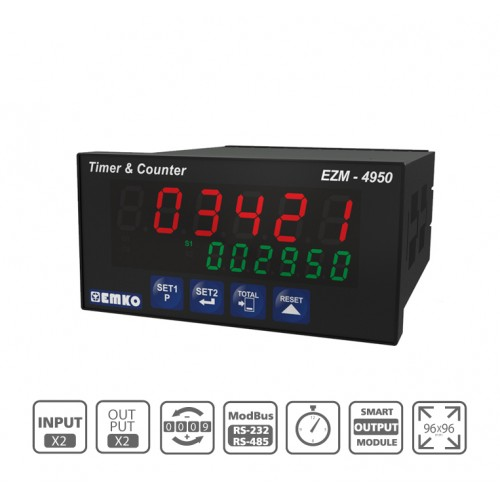 EZM-4950 Multifunctional Programmable Timer and Counter with RS 232/485 Serial Communication Unit