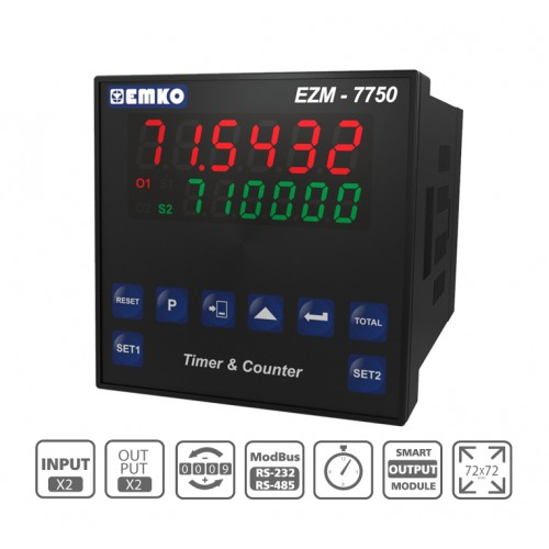 EZM-7750 Multifunctional Programmable Timer and Counter with RS 232/485 Serial Communication Unit