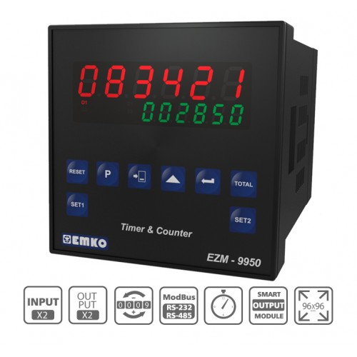 EZM-9950 Multifunctional Programmable Timer and Counter with RS 232/485 Serial Communication Unit